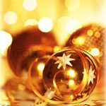 Golden baubles Christmas tree ornament