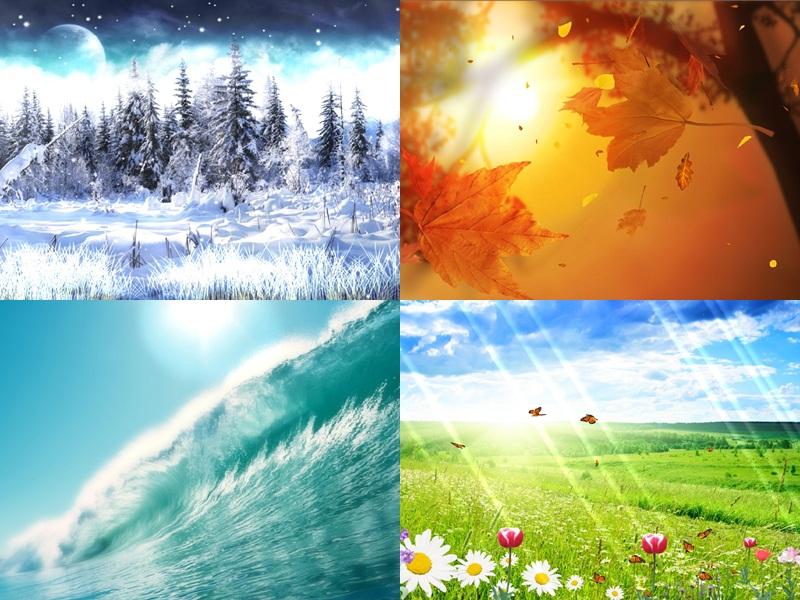 Картинки погоды в разное время года